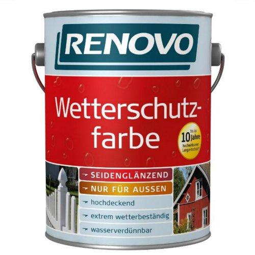 2,5 Liter Wetterschutzfarbe nussbraun RAL8011 RENOVO bis 10 Jahre Langzeitschutz Bild