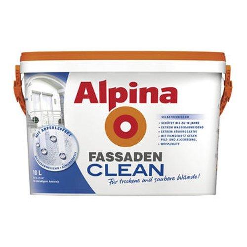 ALPINA FassadenCLEAN Außenfarbe weiß 10 L., selbstreinigend NEU Bild