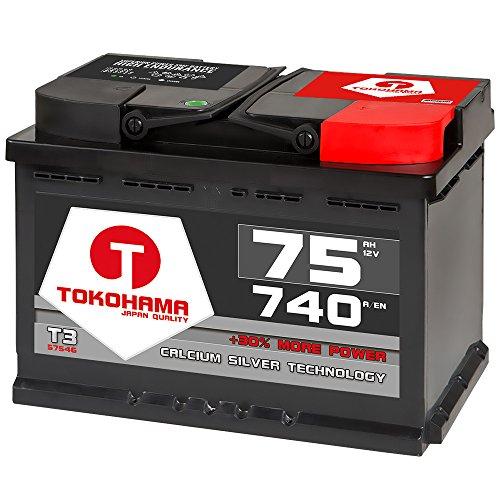 Autobatterie 75Ah 750A +30% mehr Leistung Starterbatterie ersetzt 70Ah 72Ah 74Ah Bild
