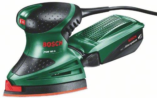 Bosch PSM 160 A HomeSeries Multischleifer + 3 Schleifblätter (160 W, Microfilter Bild