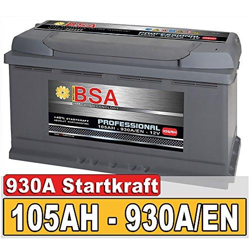 BSA Autobatterie 105Ah 12V 930A/EN ersetzt 100Ah Extreme Startkraft Bild