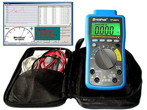 Digital Multimeter HP-90EPC USB-Anschluss Software Batterietester Kapazität Frequenz Temperatur Diodentest Bild
