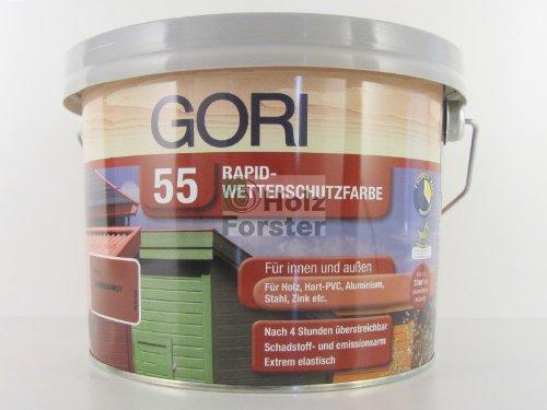GORI 55 Rapid-Wetterschutzfarbe Silbergrau, 2,50 Liter N Bild