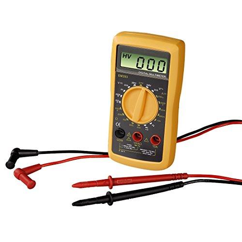 Hama Digitalmultimeter EM393, Messung von Spannung, Strom und Widerstand schwarz/gelb Bild