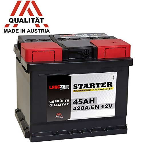 LANGZEIT Autobatterie 12V 45Ah ersetzt 36AH 40AH 41AH 43AH 44AH 46AH 48AH Bild