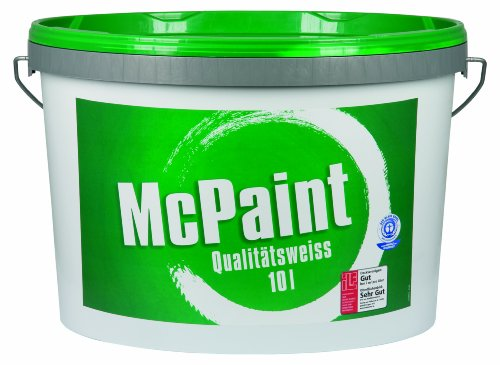 McPaint Wandfarbe Qualitätsweiß matt 10 Liter, weiß Bild