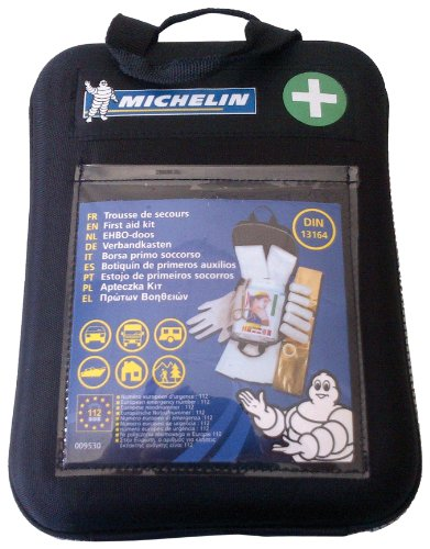 Michelin 92400 Verbandkasten nach DIN 13164:2014, mit 1-Hilfe-Sofortmaßnahmen, Softcase Gehäuse Bild