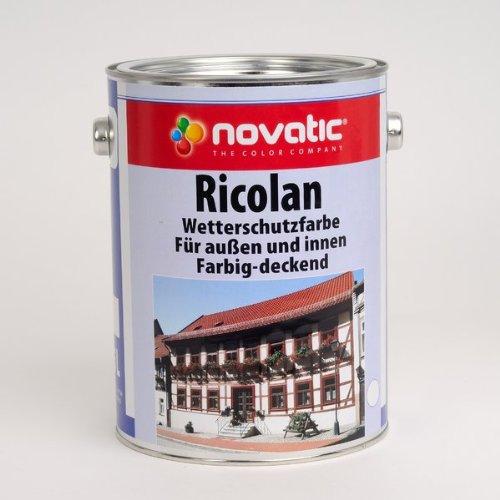 novatic Ricolan Wetterschutzfarbe LF, 5ltr - weiß Bild