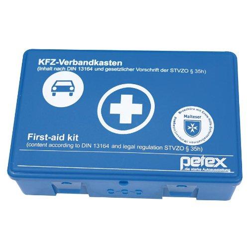Petex 43920005 Verbandkasten Inhalt nach DIN 13164, blau Bild