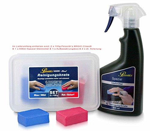 Petzoldts Reinigungsknete-Gleitmittel 2er Pack, zur perfekten Lackreinigung und Lackpolitur sowie vor einer Bild