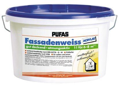 Pufas Fassadenweiss Acrylat 2,5 L Fassaden-Farbe Fassadenanstrich Fassadenfarbe Bild