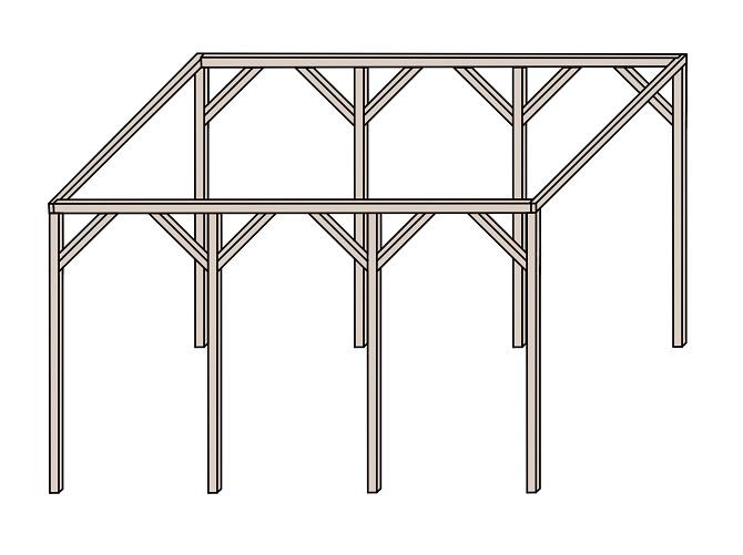 Carport Holzstreben