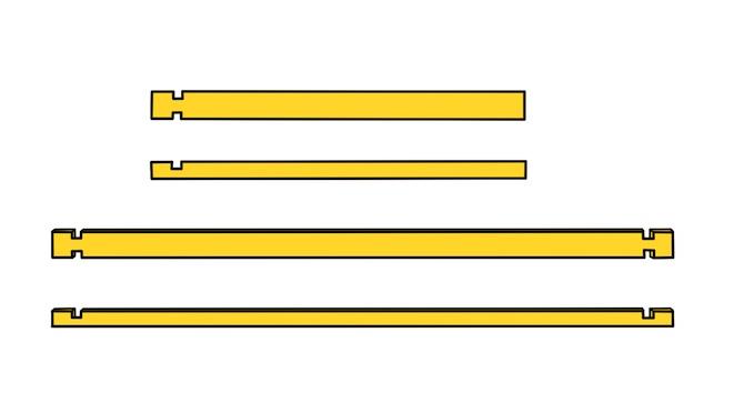 Teile für Seitenwände