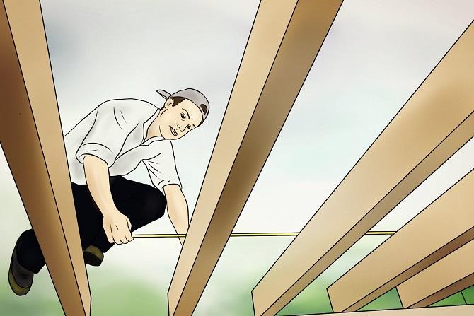 Holzgaragendach sichern