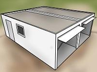 holzgaragen kosten preisliste mit konfigurator bis zu. Black Bedroom Furniture Sets. Home Design Ideas