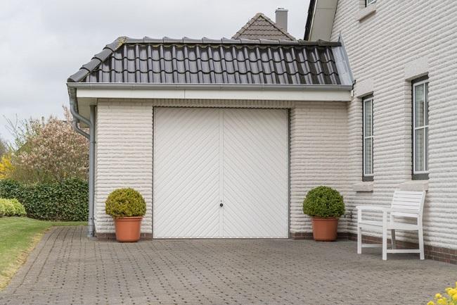 Fertiggarage schräges Dach