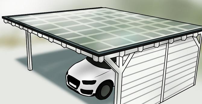 Audi unter Carport