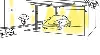 Carport mit LED Beleuchtung