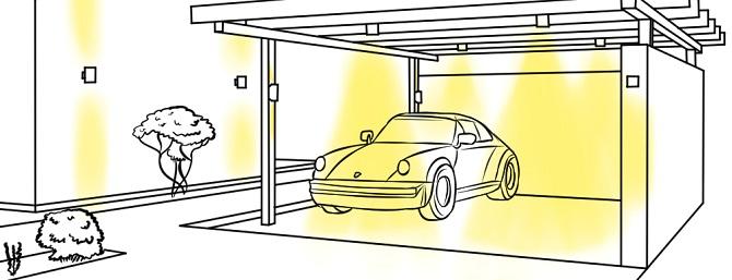 carport mit led beleuchtung diese verschiedenen arten gibt es. Black Bedroom Furniture Sets. Home Design Ideas