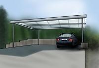 Carport Glasdach, Gründach und Tonnendach im Vergleich