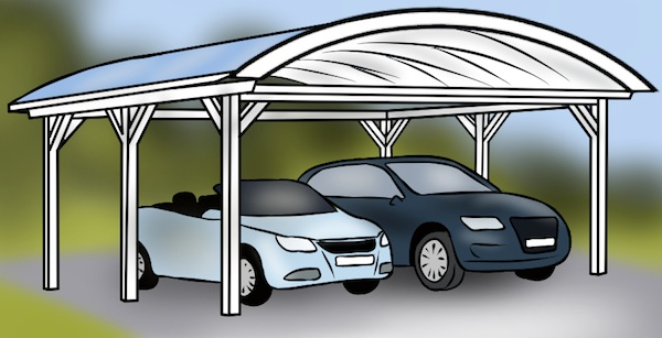 Carport Tonnendach