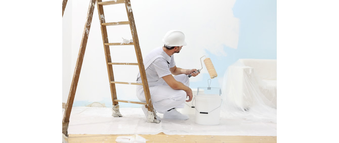muss latexfarbe aufgerollt oder gestrichen werden. Black Bedroom Furniture Sets. Home Design Ideas