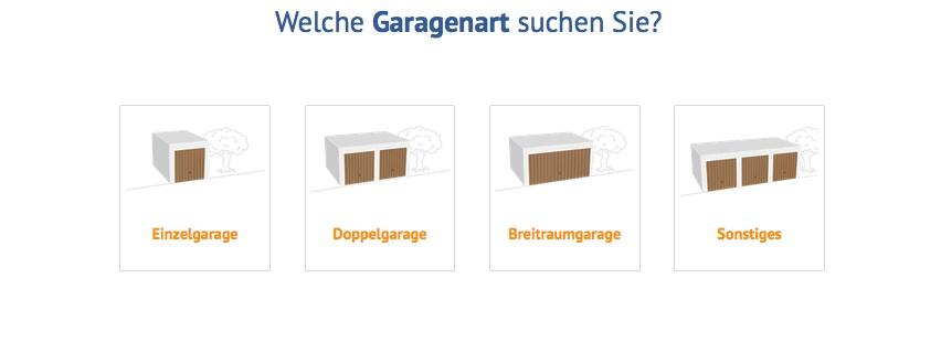 Garagenart im Fertiggaragen Konfigurator