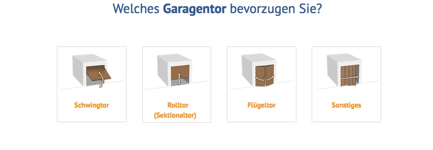 Garagentor im Fertiggaragen Konfigurator