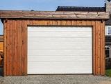 Holzfertiggaragen mit Terrasse