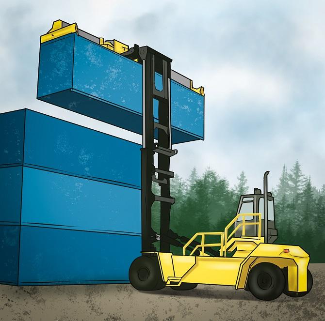 Stapler für Container - Leistungsstark und praktisch